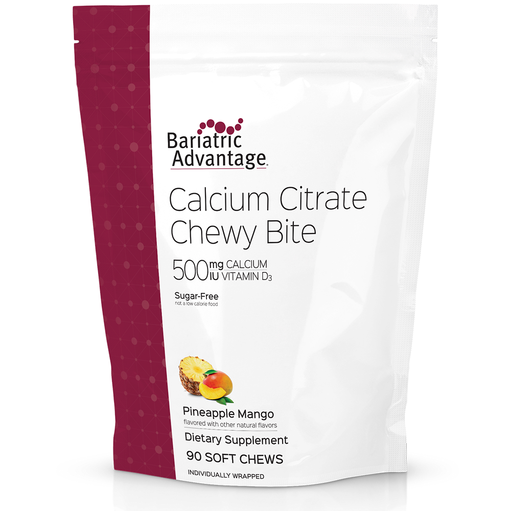 Calcium Citrate Chewy Bites 500mg (11 Flavors)